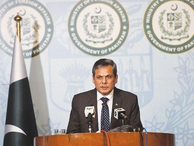 Foreign Office spokesperson Nafees Zakara. PHOTO: AFP