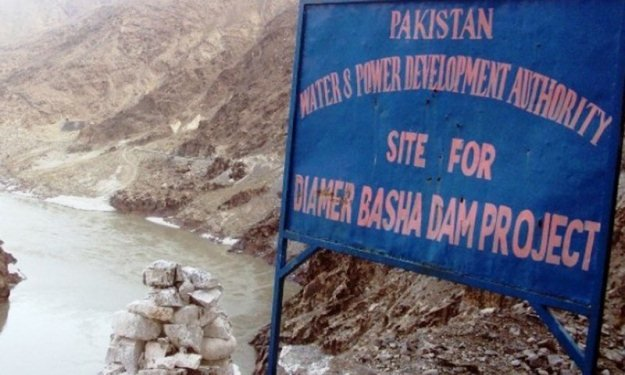 the site of the diamer bhasha dam photo inp file