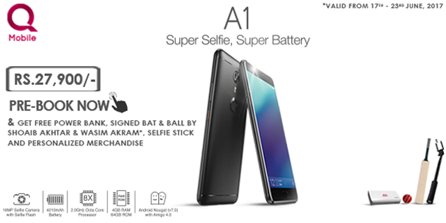 qmobile launches new noir a1 and offers exciting giveaways on pre booking