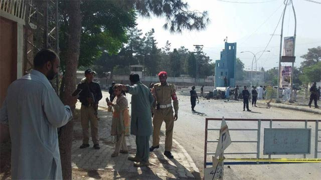 A police official is said to be among those killed. PHOTO: EXPRESS