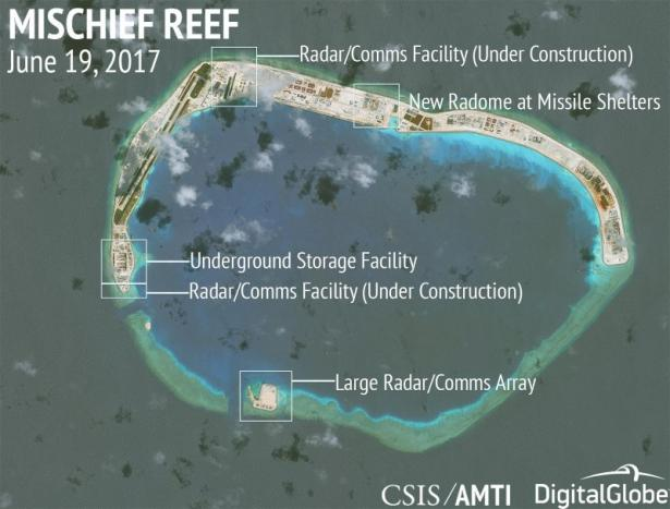 china builds new military facilities on south china sea islands think tank