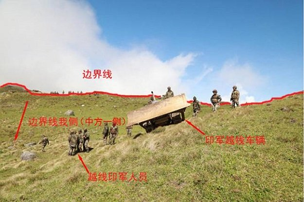 photograph released by the chinese foreign ministry