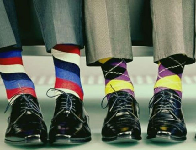 successful people display non conformist tendencies such as wearing bright coloured socks harvard