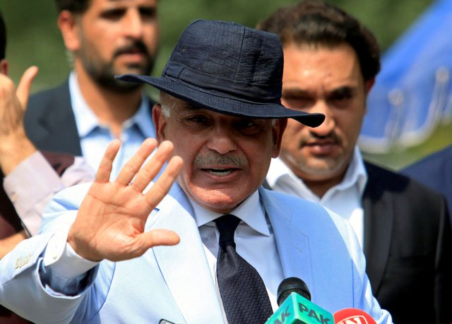 punjab chief minister shehbaz sharif gestures after appearing before a joint investigation team jit in islamabad on june 17 2017 photo reuters file