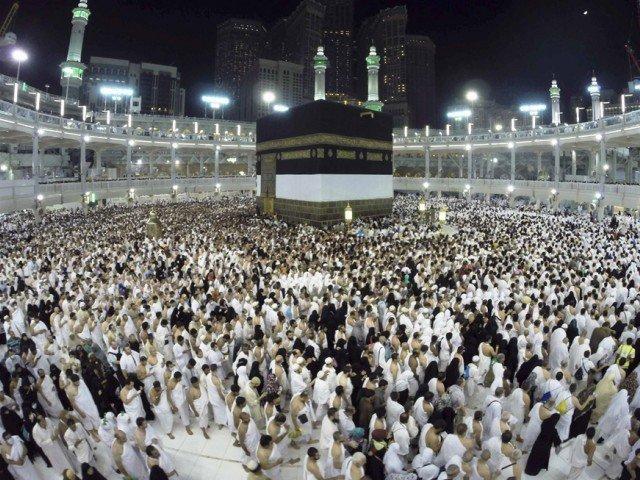 Muslim pilgrims pray around holy Kaaba during the annual Hajj pilgrimage in Makkah October 1, 2014. PHOTO: AFP