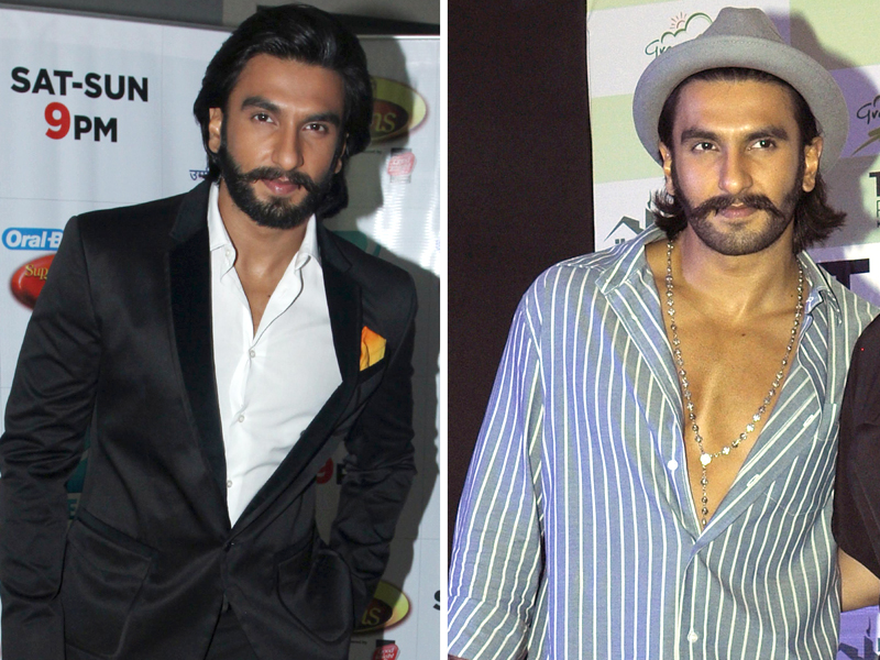 with his slicked back messy hair and the sexy overloaded stubble on his face ranveer looks suave photo file