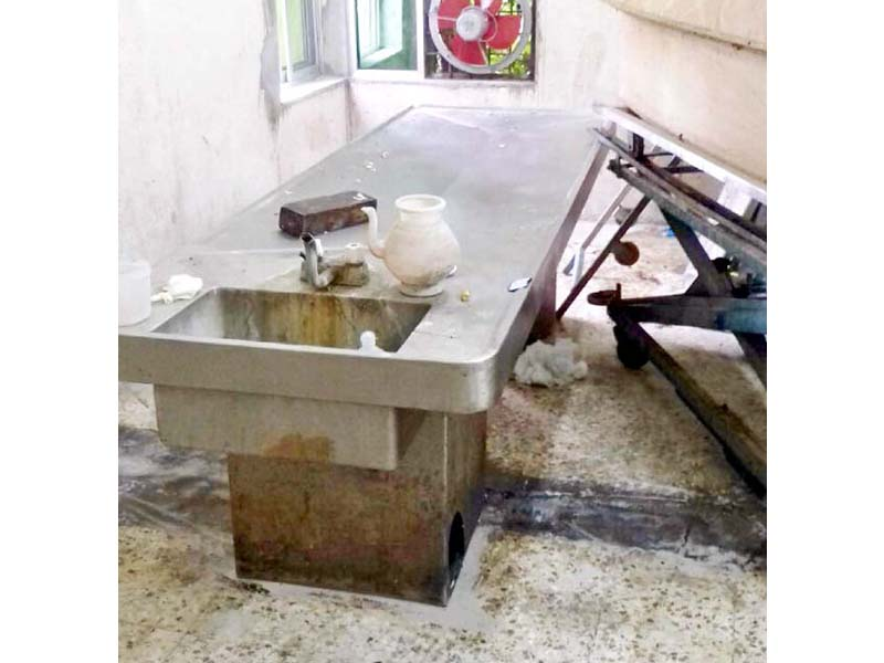 A scene of the medical equipment at the PIMS mortuary. PHOTO: EXPRESS