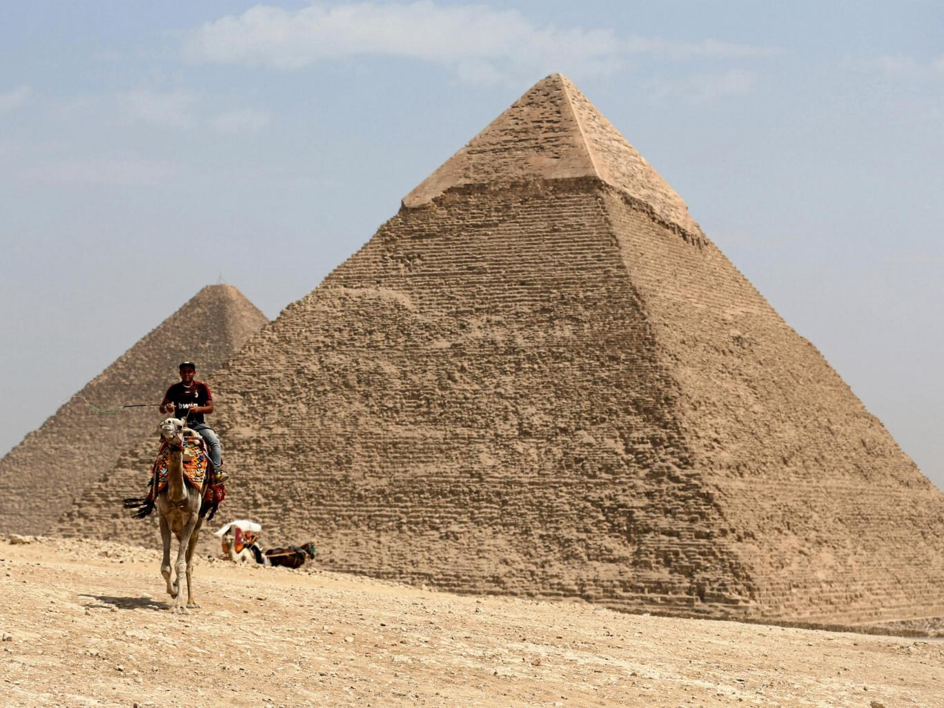 the great giza pyramids on the outskirts of cairo photo reuters