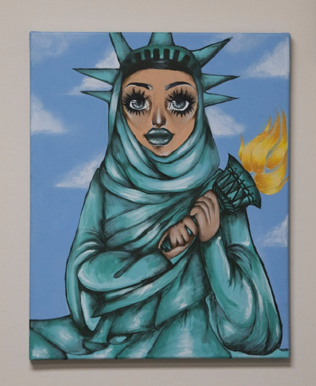 this painting of muslim lady liberty hangs on a us congressman s wall and people hate it