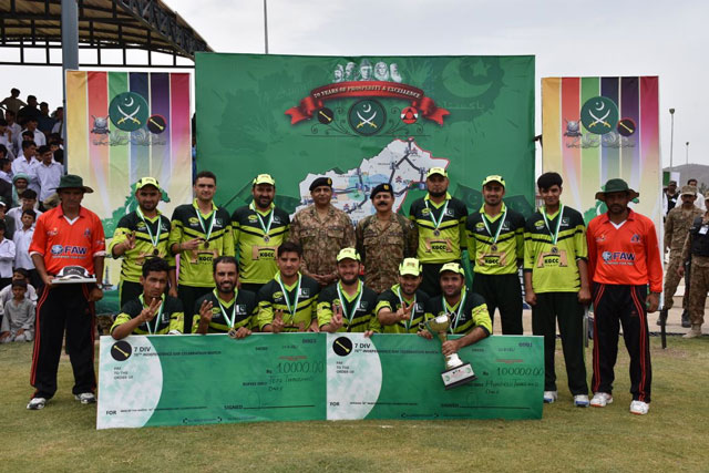 The team that participated in the match in FATA. PHOTO: ISPR