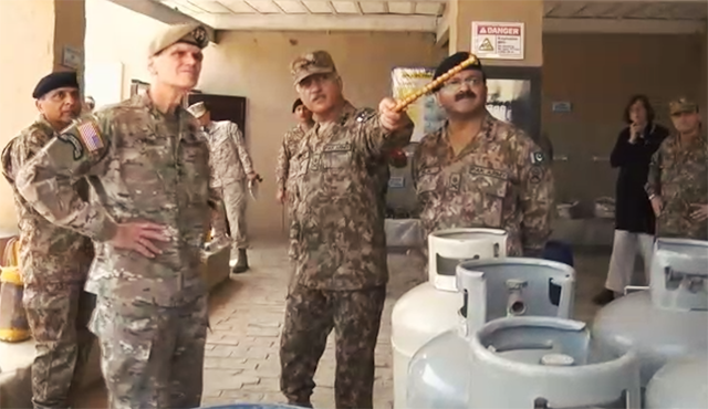 The delegation was also briefed on the progress of the socio-economic developments in the agency. PHOTO: ISPR