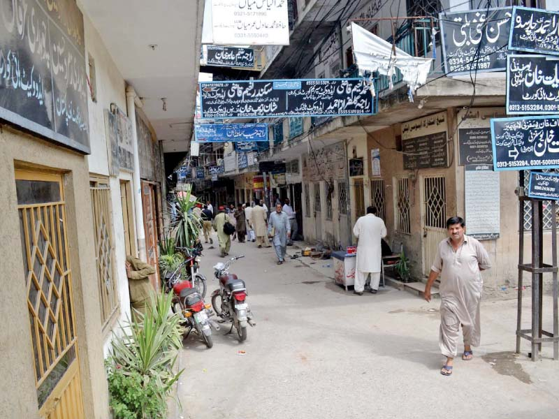 chambers of lawyers are seen closed in rawalpindi photo waseem nazir express