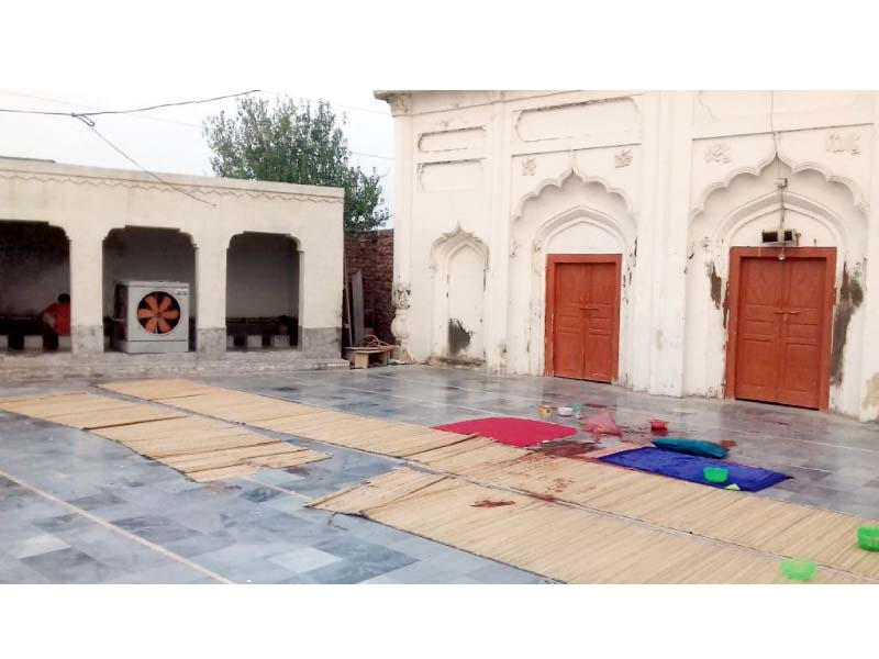 the inner view of the mosque where the incident took place photo express