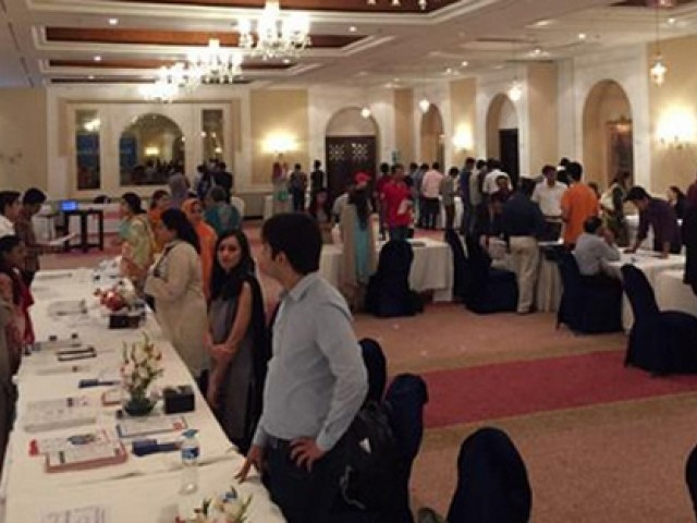 students throng to aeo education expo in islamabad