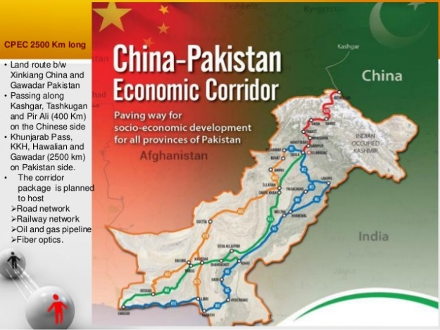 The CPEC map. PHOTO: File