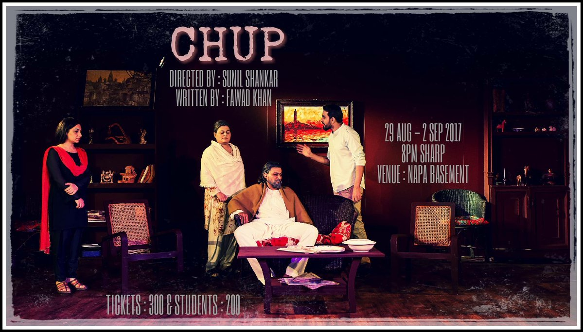 chup issue of missing persons makes it to karachi s theatre house