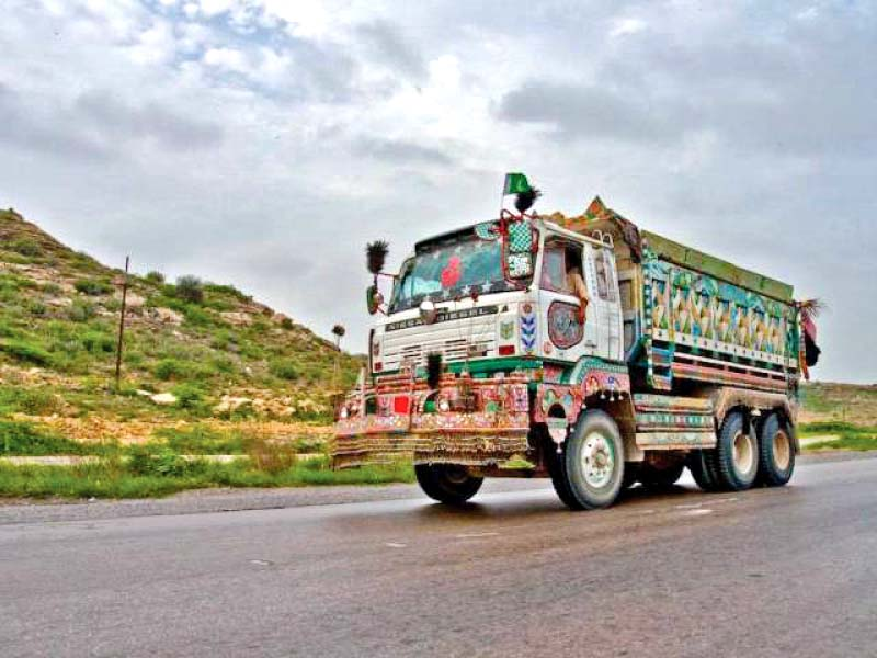 without accession to the cmr and the regulatory framework the transportation of goods by pakistani vehicles via land routes to the eco member states and european countries will not be permissible photo file