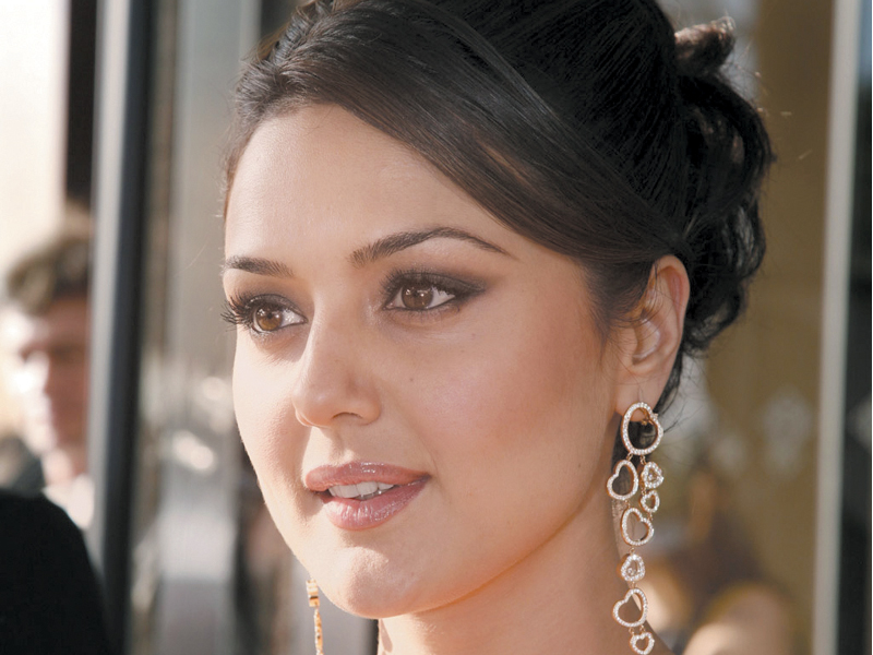 she has even made an imaginary picture of priety zinta the politician photo file