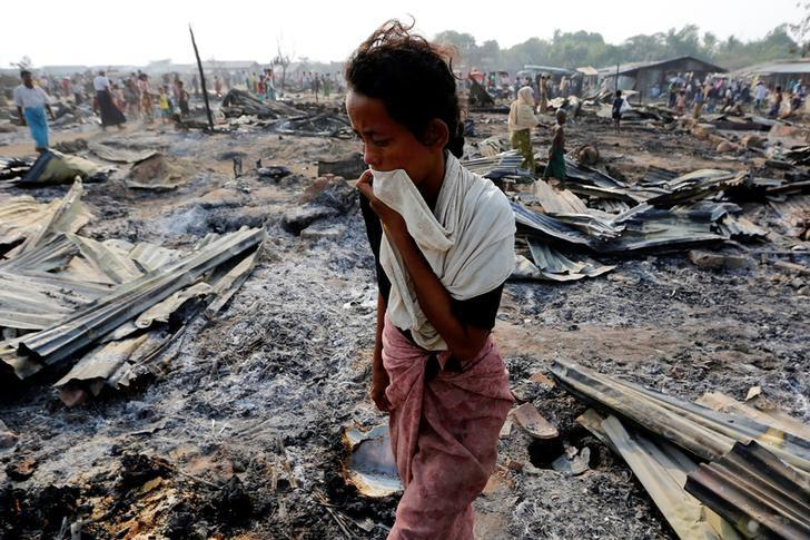 they criticised the silence of muslims countries over the slaughter of muslims in myanmar photo reuters