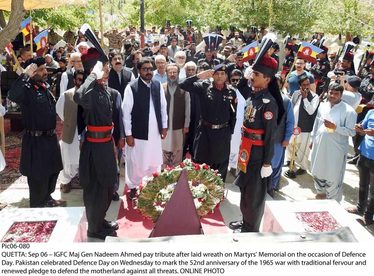 with traditional fervor defence day celebrated in balochistan