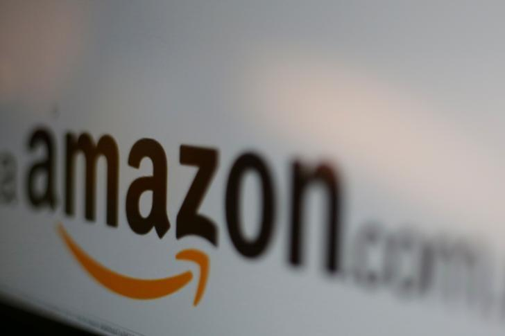 The logo of the web service Amazon is pictured in this June 8, 2017 illustration photo. PHOTO: REUTERS