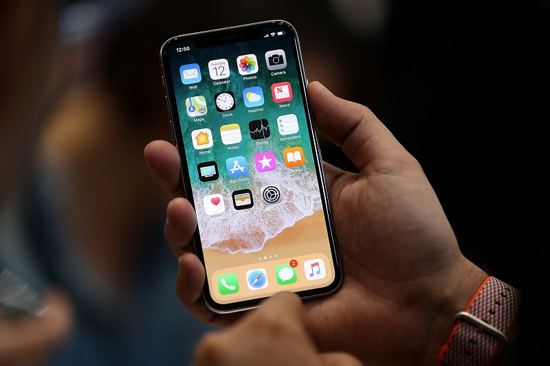 the new iphone x is displayed during an apple special event at the steve jobs theatre on the apple park campus on september 12 2017 in cupertino california photo afp