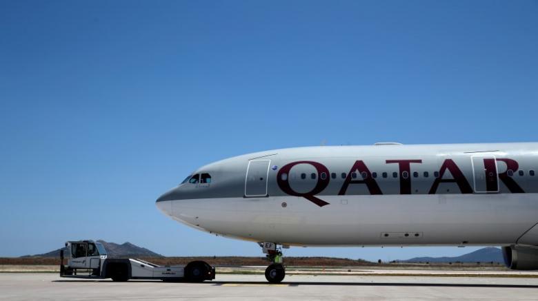 A Qatar Airways aircraft.  PHOTO: REUTERS