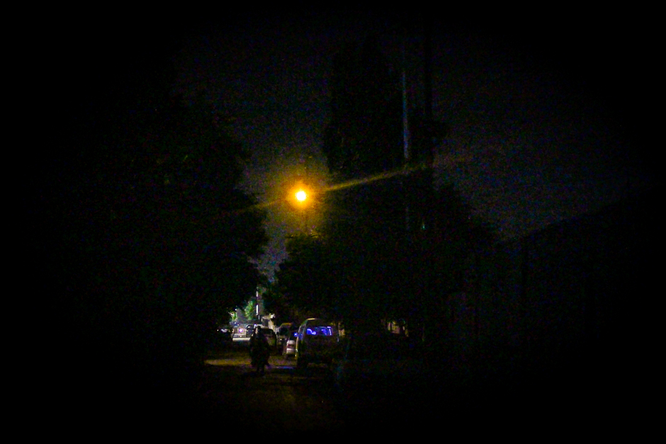a nighttime view of a street karachi 039 s federal b area neighbourhood photo fawad hasan