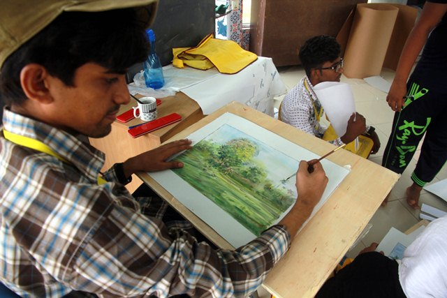 the-students-learnt-drawing-and-painting-at-the-hands-of-by-ghalib-baqar-and-sohania-elia-photo-express