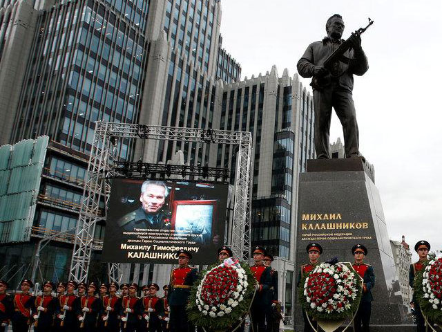 russia unveils monument to designer of iconic ak 47 rifle