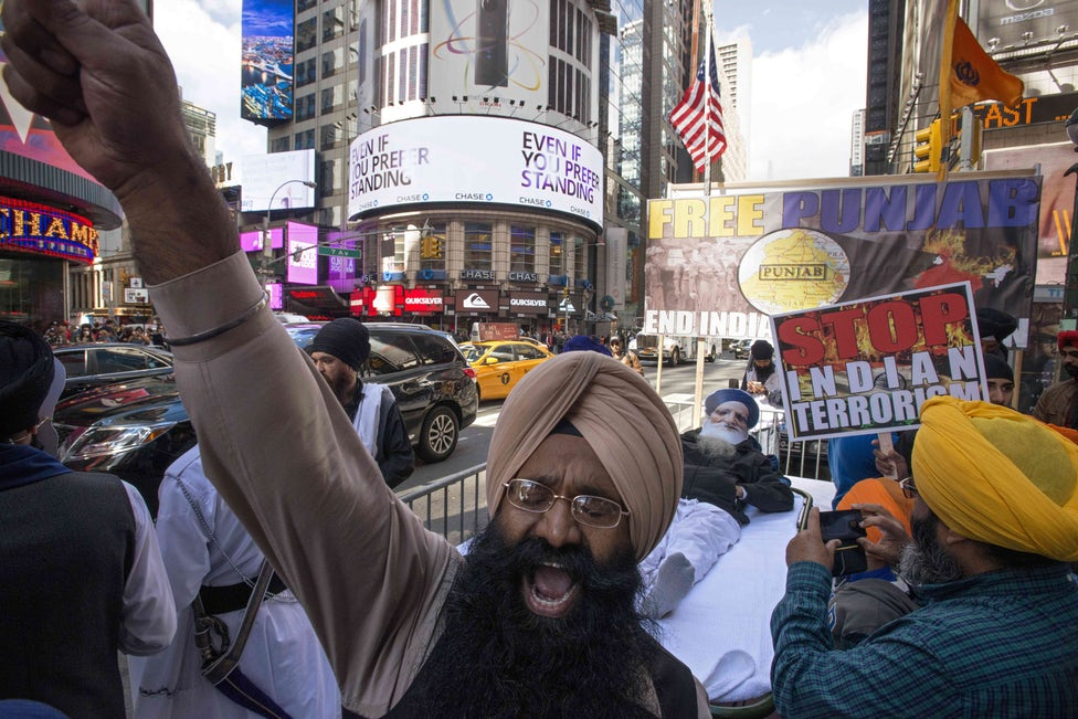khalistan movement stages anti india rally