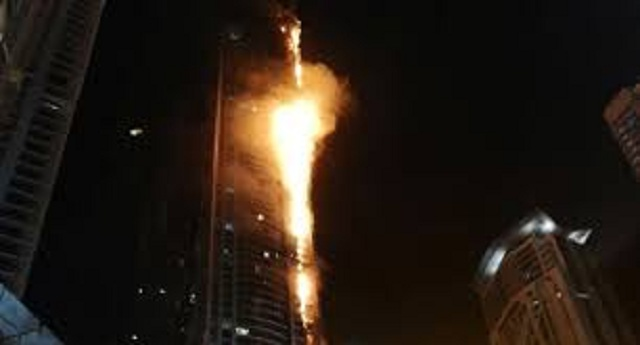 dubai says skyscraper facades being replaced after series of fires
