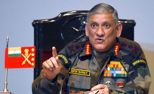 indian army chief reiterates threats of surgical strikes at loc