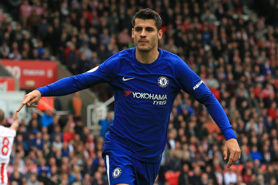 don t expect friendly reception at atletico courtois warns morata