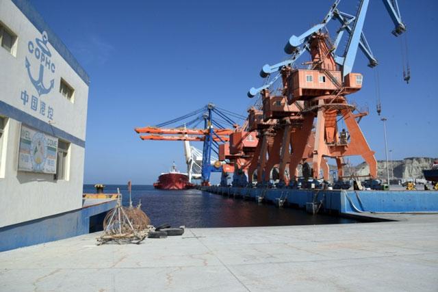 A view of Gwadar port. PHOTO: EXPRESS