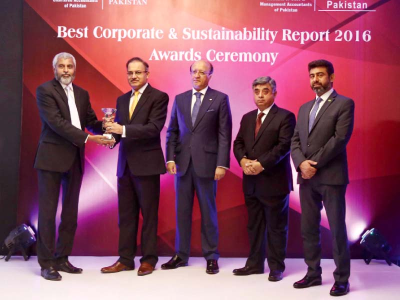 corporate corner efu life wins best corporate report award 2016