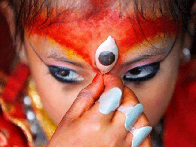 nepal names 3 year old as new living goddess