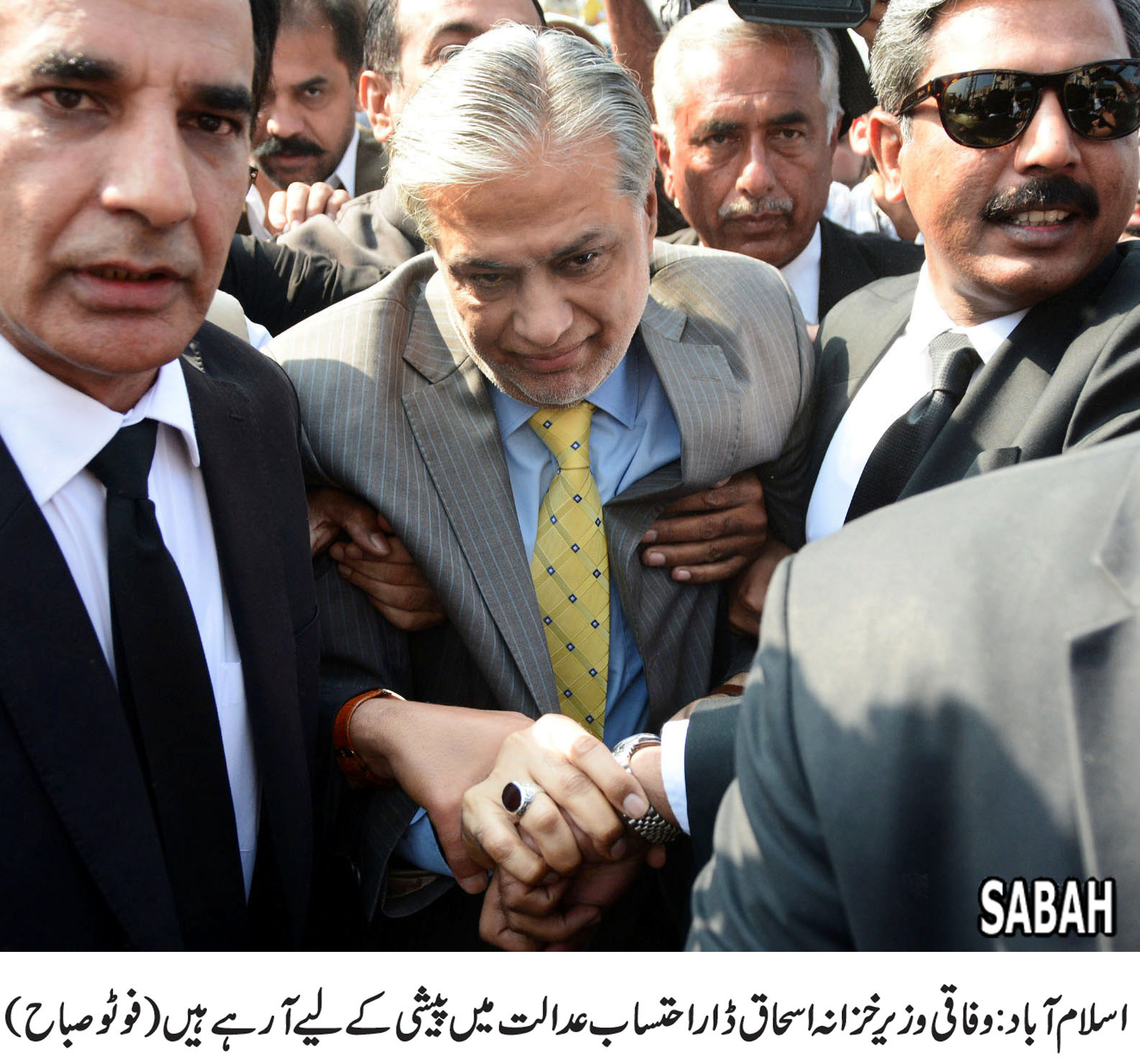 Dar appearing before accountability court on Sep 27 PHOTO: SABAH