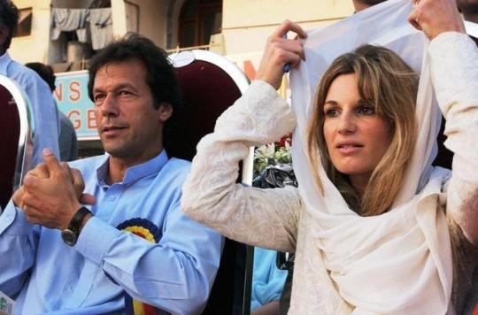 Imran Khan with Jemima Khan. PHOTO: FILE