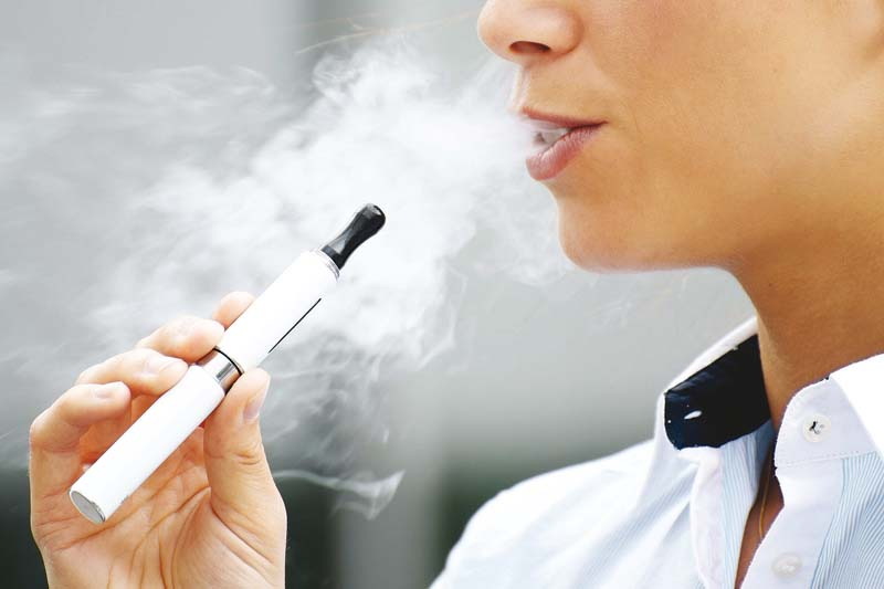 E-cigarettes can increase the harm if people become smokers after first trying them. PHOTO: FILE