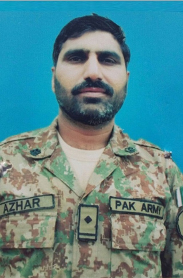 his funeral prayers were offered at the peshawar garrison he will be buried in his native town with full military honours photo ispr