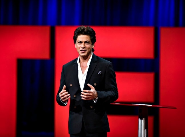 not competing with salman or akshay shah rukh khan on hosting ted talks