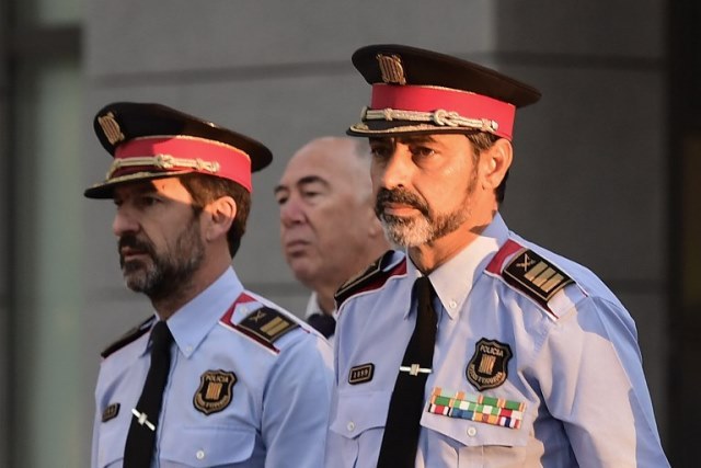 catalan police chief in court accused of sedition
