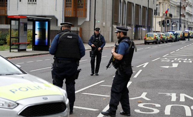 one man held after several hurt in car incident near london museum