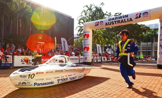 solar cars begin race across australian desert