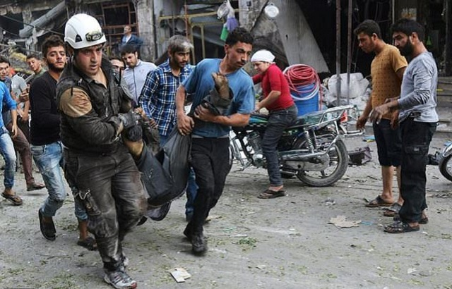 at least 11 dead in syria market air strike monitor