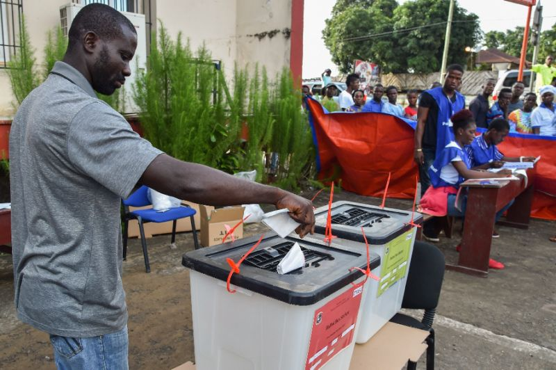 liberians vote for president in high stakes contest