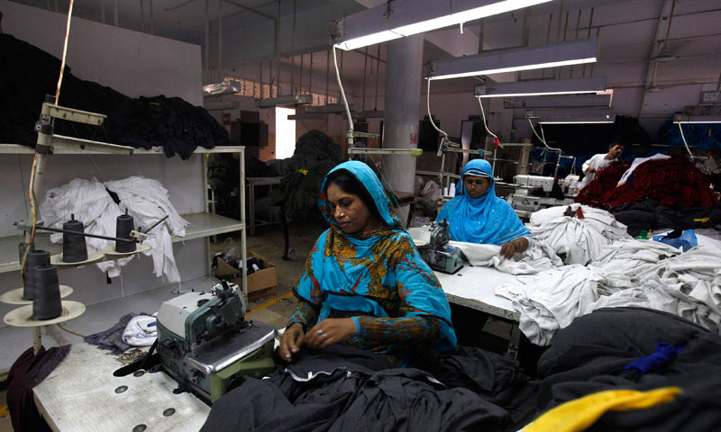 Women working at a factory. PHOTO: REUTERS