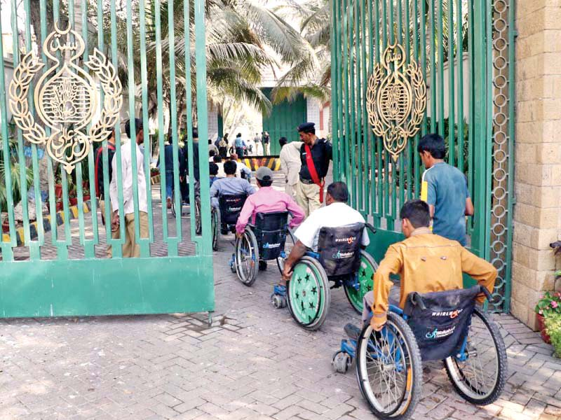 public offices lack ramps for wheelchair users