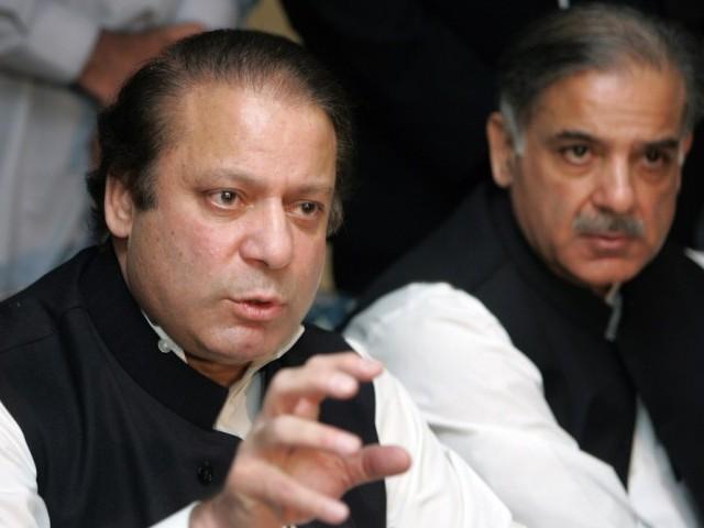 PM Nawaz and Punjab CM Shehbaz Sharif. PHOTO: AFP